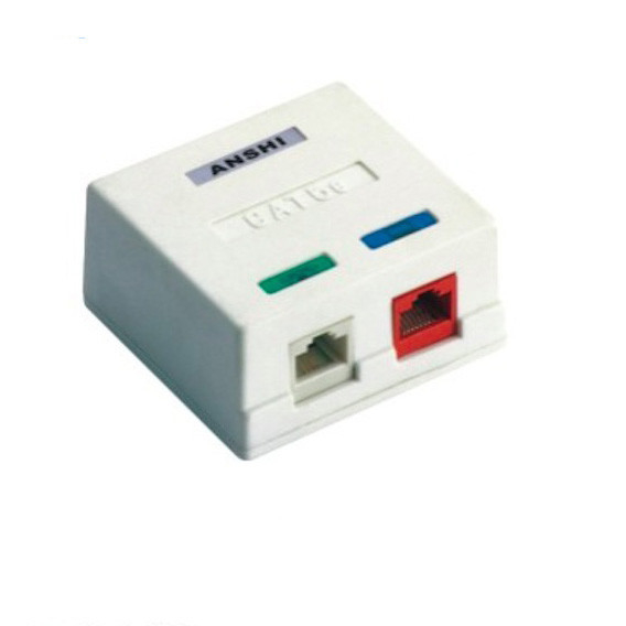 CAT6 / CAT5e surface mount box 2 port For RJ45 Module Fully Testerd
