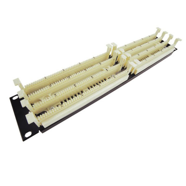 "200 pair 110 Terminal Block 19"" 1U 110 Cross Connect Distribution Frame Patch Panel"