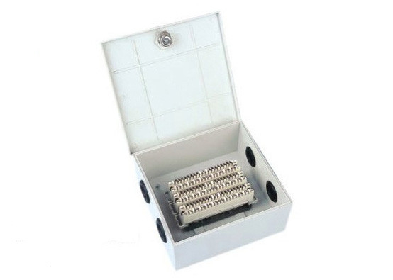 Key Lock Cable Distribution Box 30 Pair Indoor Distribution Box With Back Mount Frame