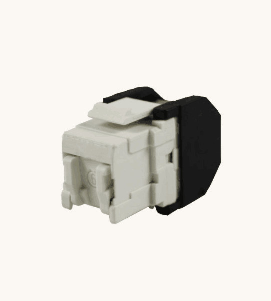 RJ45 3M UTP CAT6 Shielded Keystone Jack 180 Degree With Gold Plating