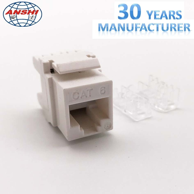 Cat6 Toolless Network RJ45 Keystone Jack 180 Degree With Customized Color